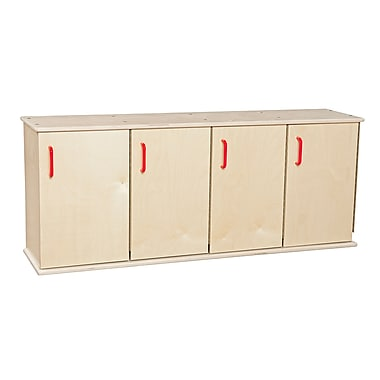 Wood Designs™ Contender™ Four-Section Stackable Ready-To Assemble Locker With Doors