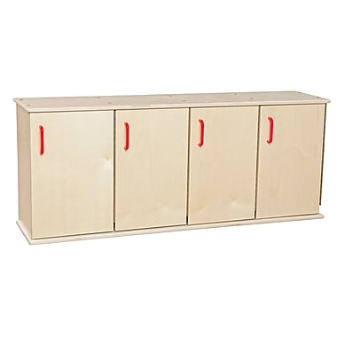 Wood Designs™ Contender™ Four-Section Stackable Assembled Locker With Doors