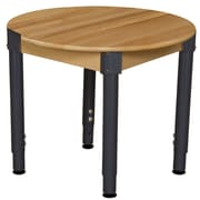 "Wood Designs™ 30"" Round Hardwood Birch Activity Table With 18""-29"" Adjustable Legs, Natural"