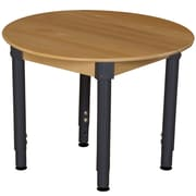 "Wood Designs™ 36"" Round Hardwood Birch Activity Table With 18""-29"" Adjustable Legs, Natural"