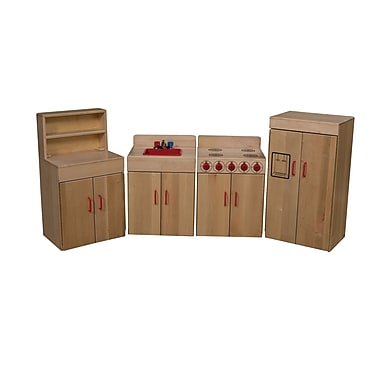 Wood Designs™ Dramatic Play Heritage Collection 4 Set Kitchen Appliances, Maple