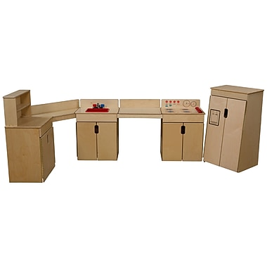 Wood Designs™ Natural Environments™ Tip-Me-Not™ 4 Set Plywood Appliances W/2 Counters