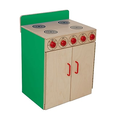 Wood Designs™ Dramatic Play Plywood Stove, Green Apple