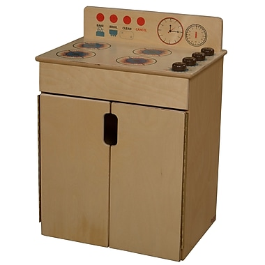 Wood Designs™ Natural Environments™ Tip-Me-Not™ Plywood Stove W/Brown Knobs