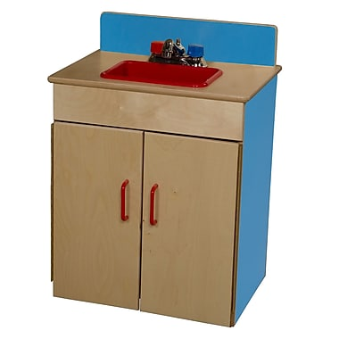 Wood Designs™ Dramatic Play Plywood Sink, Blueberry