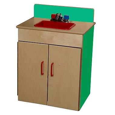 Wood Designs™ Dramatic Play Plywood Sink, Green Apple