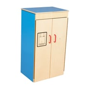 Wood Designs™ Dramatic Play Plywood Refrigerator, Blueberry