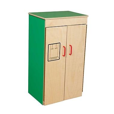 Wood Designs™ Dramatic Play Plywood Refrigerator, Green Apple