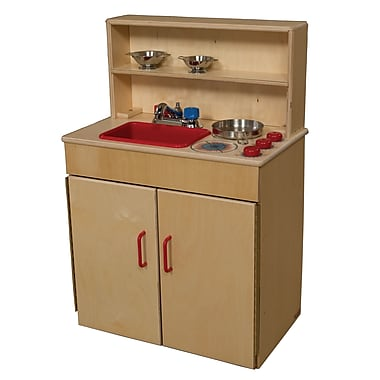 Wood Designs™ Dramatic Play Plywood 3-N-1 Kitchen Center