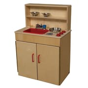 Wood Designs Dramatic Play Plywood 3 N 1 Kitchen Center
