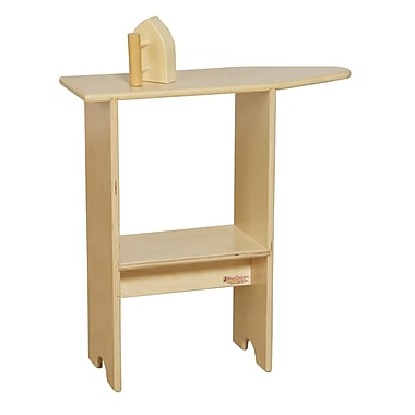 Wood Designs™ Dramatic Play Plywood Stationary Ironing Board and Wood Iron
