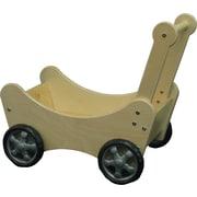 """Wood Designs 25 1/4"""" x 24 1/4"""" x 10"""" Doll Carriage, Birch"""