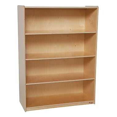 Wood Designs Storage 36'' 4-Shelf Bookcase, Light Wood (WD12900)