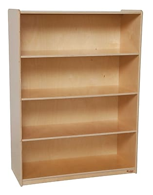Wood Designs Storage 36'' 4-Shelf Bookcase, Light Wood (WD12900)