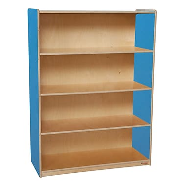 Wood Designs Storage 36'' 3-Shelf Bookcase, Blue (WD12900B)