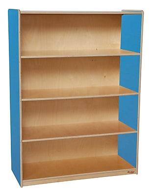Wood Designs Storage 36'' 3-Shelf Bookcase, Blue (WD12900B)