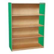 Wood Designs Storage 36'' 3-Shelf Bookcase, Green (WD12900G)