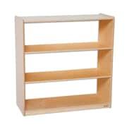 "Wood Designs™ Storage 36""(H) Fully Assembled Plywood Bookshelf W/Acrylic Back, Birch"