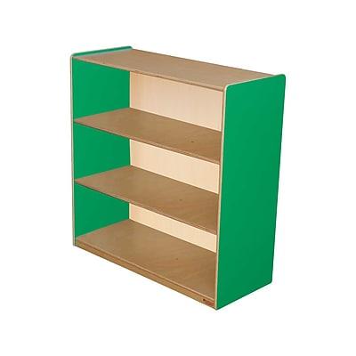 Wood Designs Storage 36'' 3-Shelf Bookcase, Green (WD12936G)