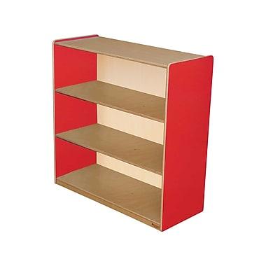 Wood Designs Storage 36'' 3-Shelf Bookcase, Red (WD12936R)