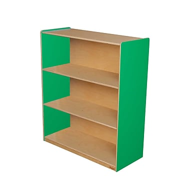 Wood Designs Storage 36'' 3-Shelf Bookcase, Green (WD12942G)
