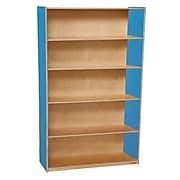 "Wood Designs™ Storage 60""(H) Fully Assembled Plywood Bookshelf, Blueberry"