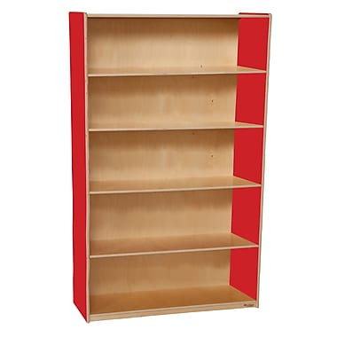 Wood Designs Storage 36'' 4-Shelf Bookcase, Red (WD12960R)