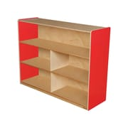 "Wood Designs™ Storage 36""H Versatile Shelf Storage, Strawberry Red"