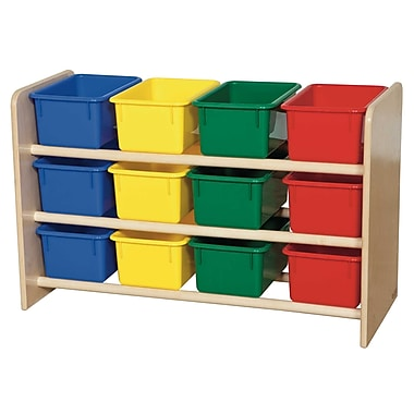 Wood Designs™ See-All Storage With 12 Assorted Trays, Birch
