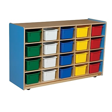 Wood Designs 20 Tray Storage With 20 Assorted Trays, Blueberry
