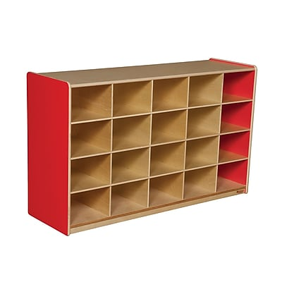 Wood Designs 20 Tray Storage Without Trays, Strawberry Red