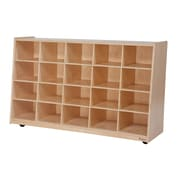 """Wood Designs™ Tip-Me-Not™ 30""""H 20 Cubby Storage Unit Without Trays, Birch"""