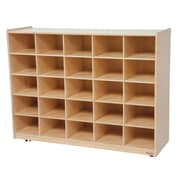 Wood Designs 25 Cubby Storage Cabinet Without Trays, Birch