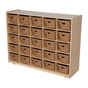 Wood Designs™ Cubby Storage Cabinet With 25 Baskets, Birch