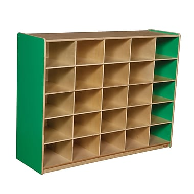 Wood Designs 25 Cubby Storage Cabinet Without Trays, Green Apple