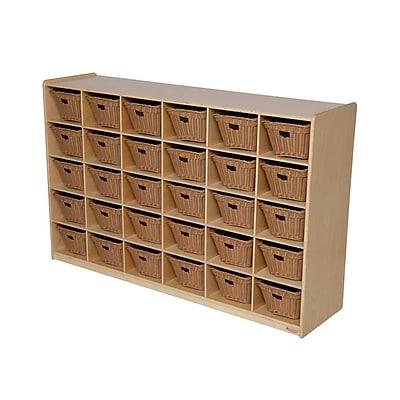 Wood Designs™ Cubby Storage Cabinet With 30 Baskets, Birch