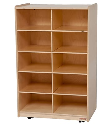 Wood Designs™ Vertical Storage Without Trays, Birch