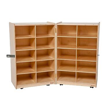 Wood Designs™ Folding Vertical Storage Without Trays, Birch