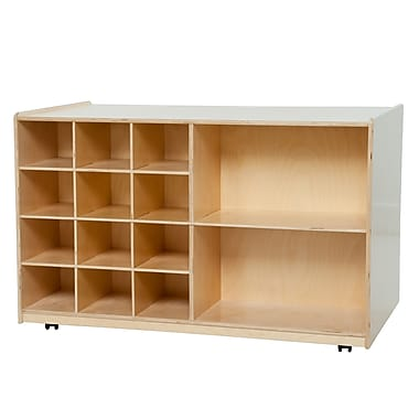 Wood Designs™ Double Mobile Storage Without Trays, Birch