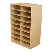 """Wood Designs 16 - 3"""" Letter Tray Storage Unit Without Trays, Birch"""