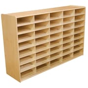 """Wood Designs 40 - 3"""" Letter Tray Storage Unit Without Trays, Birch"""