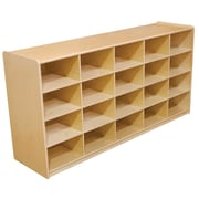 "Wood Designs 20 5"" Letter Tray Storage Unit without Trays, Birch"