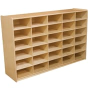 """Wood Designs 30 - 5"""" Letter Tray Storage Unit Without Trays, Birch"""