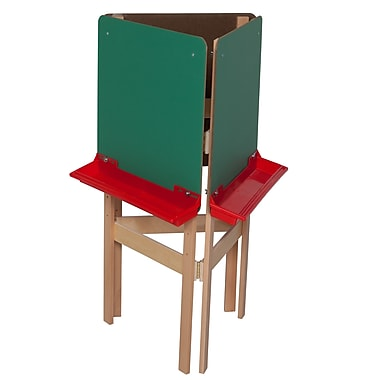 Wood Designs™ Art 3-Sided Adjustable Easel With Chalkboard, Birch