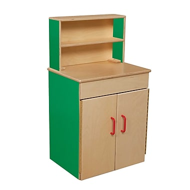 Wood Designs™ Dramatic Play Plywood Classic Deluxe Hutch, Green Apple