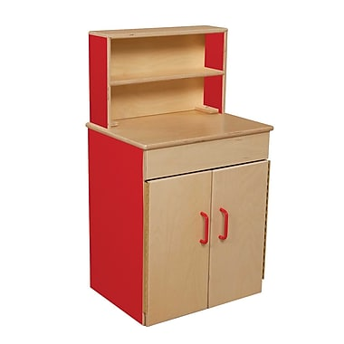 Wood Designs™ Dramatic Play Plywood Classic Deluxe Hutch, Strawberry Red