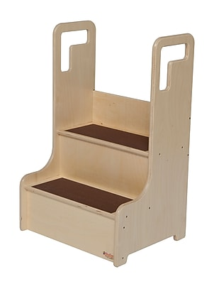 Wood Designs™ Tot Furniture Polyurethane Step-Up-N-Wash With Brown Treads, Birch