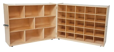 """""Wood Designs 36""""""""H Half and Half Tray Folding Storage Without Trays, Birch"""""" 509357"