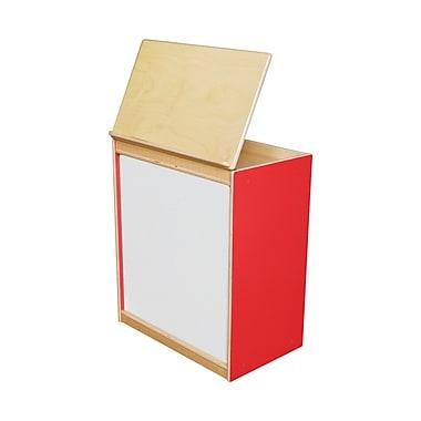 Wood Designs Literacy 24'' 1-Shelf Bookcase, Red (WD24100R)