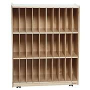 Wood Designs™ 30-Slot Portfolio Center, Wood